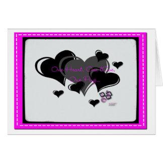 Un corazón, un amor, un barro amasado. tarjeta pequeña