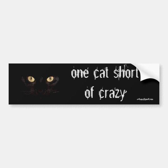 un cortocircuito del gato pegatina para coche