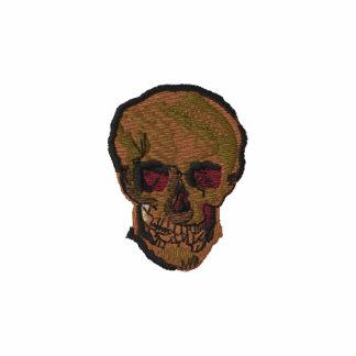 Un cráneo de Vincent van Gogh Sudadera Bordada Con Cremallera