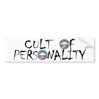 Un culto de la personalidad de Obama (en blanco) Etiqueta De Parachoque
