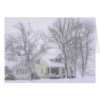 Un día de invierno reservado tarjeta