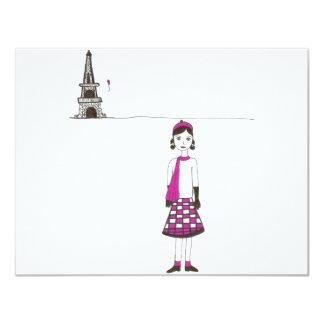 Un día en París Francia Invitación 10,8 X 13,9 Cm
