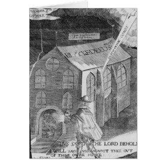 Un diagrama con el polvo, 1605 tarjeta de felicitación