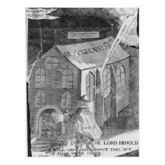 Un diagrama con el polvo, 1605 tarjetas postales
