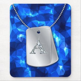 """Un """"diamante Bling,"""" placas de identificación y po Tapete De Ratones"""