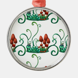 Un diseño inconsútil con los gusanos en un jardín ornamento de navidad