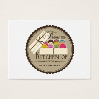 Un docena sistemas de Macarons del francés de 100 Tarjeta De Negocios