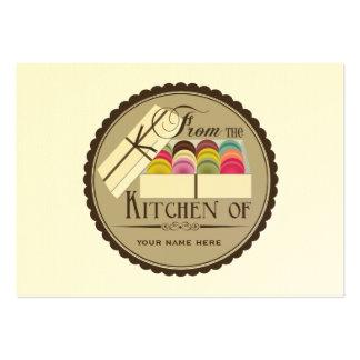 Un docena sistemas de Macarons del francés de 100 Tarjetas De Visita Grandes