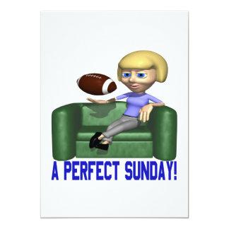 Un domingo perfecto invitación 12,7 x 17,8 cm