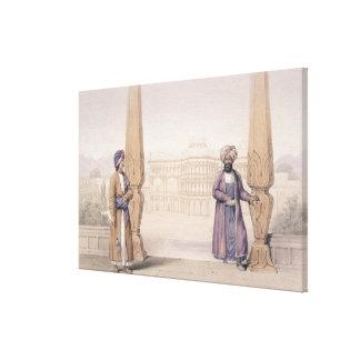 Un Dooranee noble y su asistente en el palacio Impresión En Lona Estirada