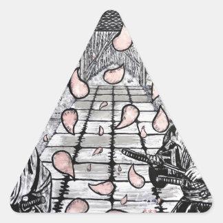 Un drenaje por Carretero L. Shepard Pegatina Triangular