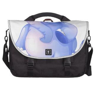 Un elefante azul joven bolsas para portatil