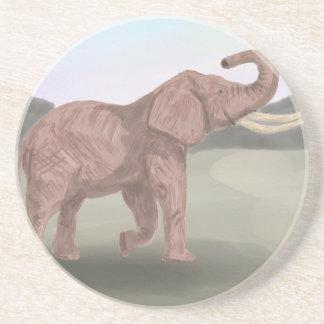 Un elefante de la sabana posavasos de arenisca
