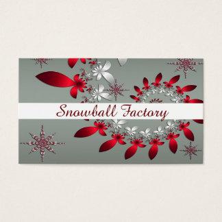 Un espiral del copo de nieve tarjeta de visita