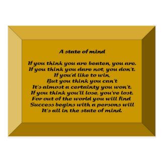Un estado de ánimo tarjeta postal