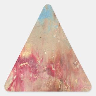 Un estudio en color pegatina triangular