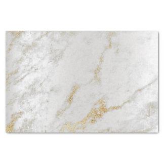 Un extracto metálico de mármol de plata gris más papel de seda
