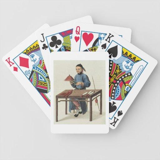 "Un fabricante del casquillo, platea 51 ""del traje  baraja cartas de poker"