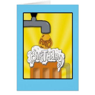 Un feliz cumpleaños en golpecito tarjeta de felicitación