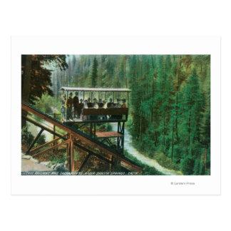 Un ferrocarril escénico a lo largo del río Sacrame Postales