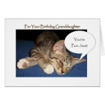 Un gato de Tabby de la tarjeta de la nieta del