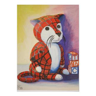 Un gato invitación 12,7 x 17,8 cm
