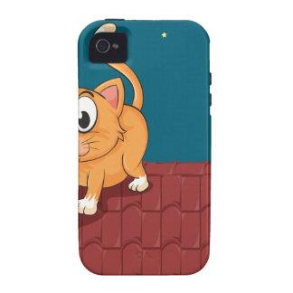 Un gato y una rata en el tejado iPhone 4/4S funda