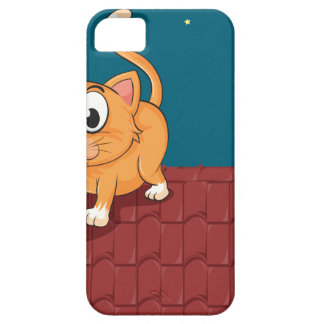 Un gato y una rata en el tejado iPhone 5 coberturas