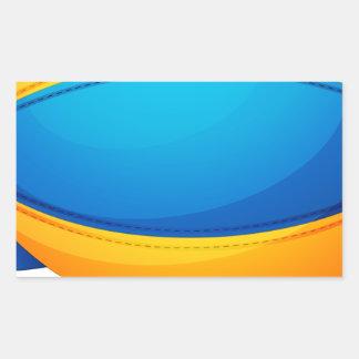 Un globo colorido del aire caliente pegatina rectangular
