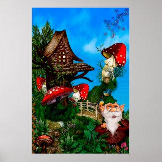 Un gnomo para mi arte de la fantasía del jardín impresiones