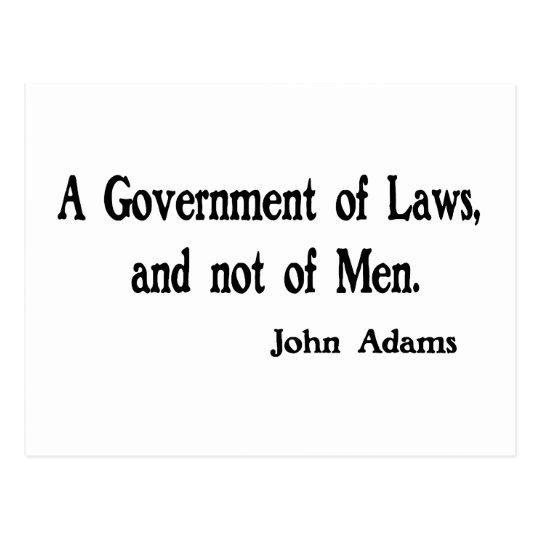 Un gobierno de leyes postal