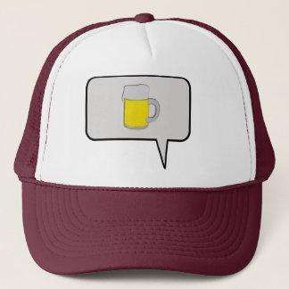 Un gorra de la burbuja del discurso de la cerveza