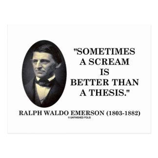 Un grito es a veces mejor que una tesis Emerson Tarjeta Postal