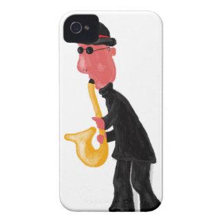 Un hombre que toca el saxofón carcasa para iPhone 4 de Case-Mate