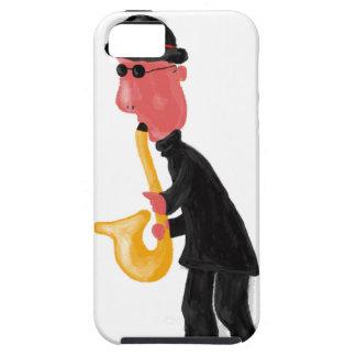 Un hombre que toca el saxofón funda para iPhone SE/5/5s