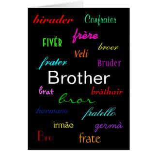 """""""Un I de Brother tarjeta del cumpleaños"""" - persona"""