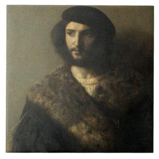 Un inválido, c.1514 (aceite en lona) azulejo cuadrado grande