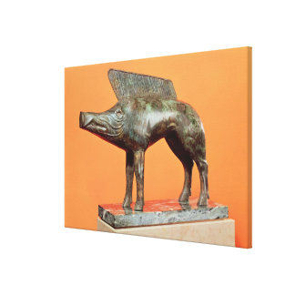 Un jabalí, del Neuvy-en-Sullias Lienzo Envuelto Para Galerías