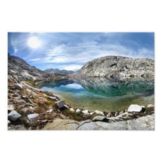 Un lago más bajo 3 palisade - rastro de John Muir Fotografía
