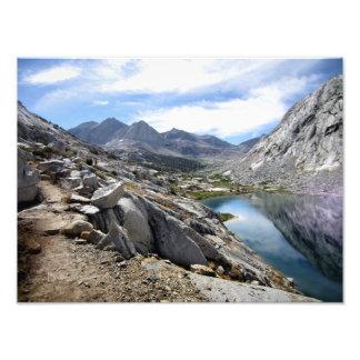 Un lago más bajo palisade - rastro de John Muir Fotografías