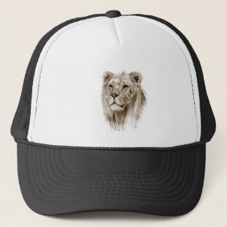 Un león - sin arte del bosquejo del dibujo del gorra de camionero