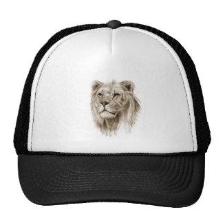 Un león - sin arte del bosquejo del dibujo del gorras
