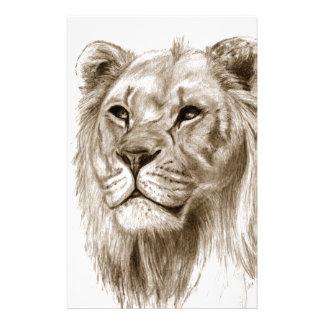 Un león - sin arte del bosquejo del dibujo del  papeleria de diseño
