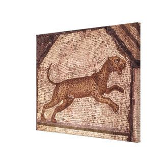 Un leopardo impresión en lienzo estirada