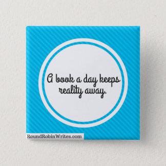 Un libro al día (botón) chapa cuadrada