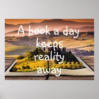 Un libro al día mantiene realidad ausente póster