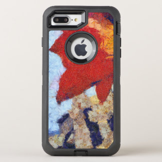 Un lirio rojo hermoso funda OtterBox defender para iPhone 8 plus/7 plus