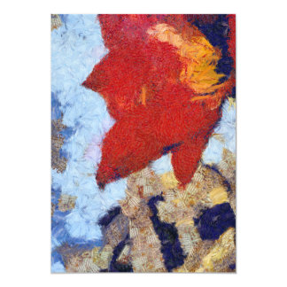 Un lirio rojo hermoso invitación 12,7 x 17,8 cm