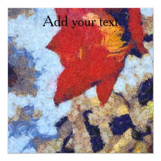 Un lirio rojo hermoso invitación 13,3 cm x 13,3cm