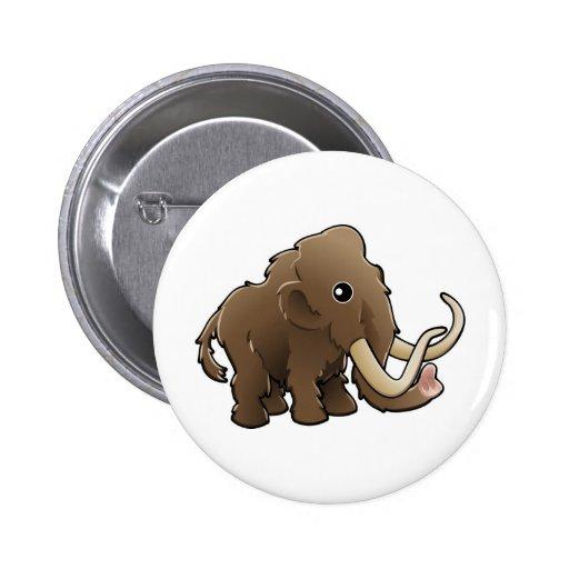 Un mamut lanoso amistoso lindo pin